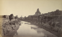 View showing the old moat and ramparts of Tanjore.